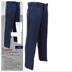 Navy with Black Piping NYPD Uniform Pants,  34